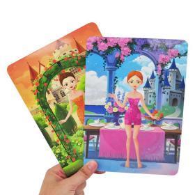 正版全新磁力变身贴纸游戏盒 公主3-5-6岁儿童益智全脑开发贴纸游戏书思维逻辑专注力训练书 儿童益智书籍智力潜能开发变装游戏贴纸