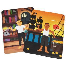 正版全新磁力变身贴纸游戏盒 探险 3-6岁儿童益智全脑开发贴纸游戏书思维逻辑专注力训练书 儿童思维逻辑训练益智书籍智力潜能开发变装游戏