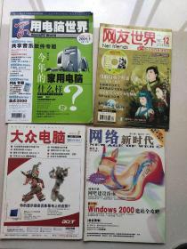 家用电脑世界2001年第1期,大众电脑2001年第4期,网络新时代2001年第4期,网友世界2003年第12期。