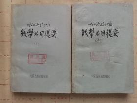 呼和浩特地区钱币书目提要(油印上下两册全合售)