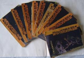 《福尔摩斯新探案大全集》全12册(第二种少中下册,余10册)。上海三星书局民国22年7月3版