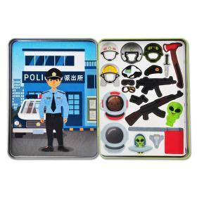 正版全新磁力变身贴纸游戏盒 专注力贴纸书 职业 探险 旅行 公主 3-5-6岁儿童益智全脑开发贴纸游戏书思维逻辑训练书儿童智力潜能益智书籍