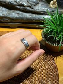 前苏联古董首饰纯银戒指