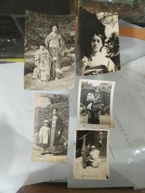 满洲国时期在东北穿和服的日本美女家庭生活照一组