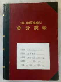 《北京宣武通海装饰用品厂总分类帐》1991年1月1日  精装