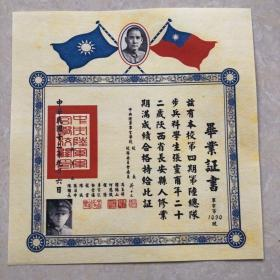 中华民国十二年黄埔军校第四期毕业证书
