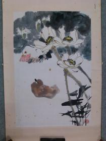 著名画家 中国杰出的花鸟画家 谭昌镕 国画鸳鸯 原稿真迹 永久保真