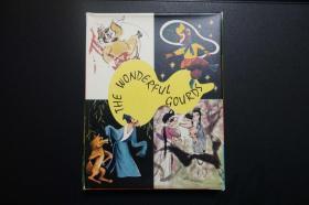 外文版小32开本连环画《宝葫芦》《三借芭蕉扇》《东郭先生》《牛郎织女》《蛐蛐》全套5册带盒(马得彩绘,精美异常)