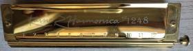 凯恩公司赠,中国口琴协会监制,解放军仪仗队专用12孔铜壳口琴