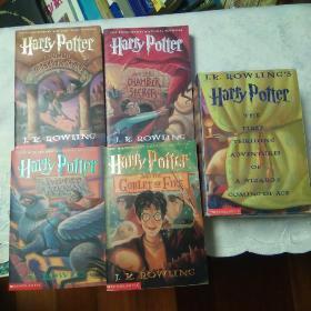 Harry Potter (1-4)哈利波特四册合售其中1-3册有盒