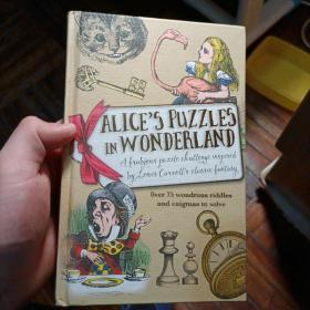 英文原版 Alice's Puzzles in Wonderland 《爱丽丝仙境中的谜语》