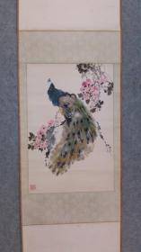 著名画家 中国杰出的花鸟画家 谭昌镕 国画孔雀 原稿真迹 永久保真