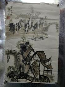 湖南省著名画家廖正华精品山水
