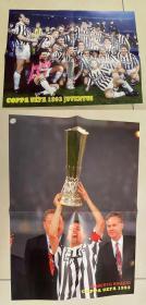 足球海报  1993联盟杯冠军尤文图斯/巴乔