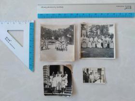 民国西方传教士老照片4张 (5.6×6两张 4.7×5 3.6×2.5)。