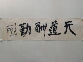 保真书画,辽宁名家孙鸣村书法一幅38×138cm