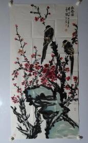 保真书画, 山东名家,滨州美协副秘书长,刘新春四尺整纸国画一幅