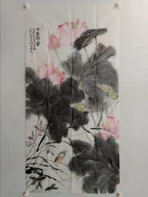 保真书画,当代实力派画家,天津美院教师王少桓四尺整纸国画精品一幅