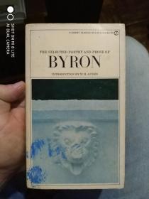 英文原版:the selected poetry and prose of byron 拜伦诗文选 扉页有签名 尾页缺少一点点