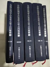 公检法刑事办案重点难点问题释解(全五卷)
