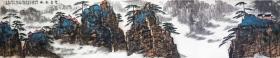 【保真】收藏重器-安徽省美术家协会员、《中华国风文艺》执行主编、实力画家方玉毛3.3米巨幅山水长卷:云壑松风