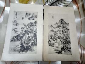 民国早期活页画册26张合售如图
