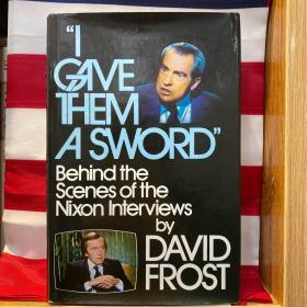 """英国传奇电视主持人、采访过7位英国首相和8位美国总统、在节目中迫使尼克松为""""水门事件""""道歉 之 大卫·弗罗斯特爵士(David Frost,1939-2003)亲笔签赠(米勒夫妇)尼克松采访实录》附签赠和签名送给同一人(芝加哥的米勒夫妇)的讲座海报两件(1978年初版一印,布面精装,书衣完好)"""