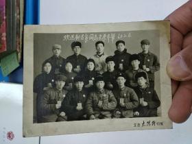 《胸戴毛主席像章手捧毛泽东红宝书的老照片》  欢送邹吉良同志光荣参军纪念 (1969.2.4)
