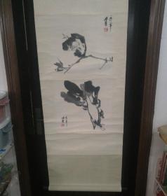 中国当代著名书画家之一  南京 李味青  册页两幅,裱工估计二十年左右,