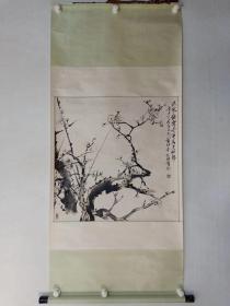 保真书画,当代京派名家,通州美协主席彭仕强先生国画一幅68×68cm,原装裱立轴