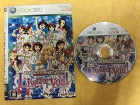 xbox360游戏 偶像大师 Live For You 游戏光盘