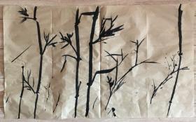 国画 毛边纸 水墨画 尺寸:71x42厘米 品相以图为准
