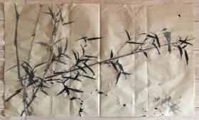 国画 毛边纸 - 水墨画 尺寸:71x42厘米 品相以图为准