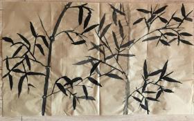 国画 毛边纸 - 水墨画 尺寸:70x42厘米 品相以图为准