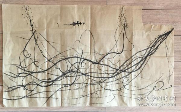 国画 毛边纸 / 水墨画 尺寸:72x43厘米 品相以图为准 右上调角