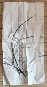 国画 宣纸未裱 水墨画 尺寸:68x35厘米 品相以图为准