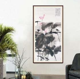 中美协会员陈中林四尺整张荷花精品