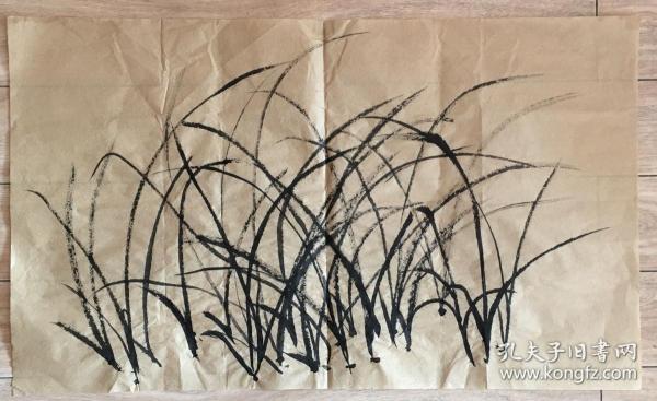 国画 毛边纸 水墨画 尺寸:71.5x42厘米 品相以图为准
