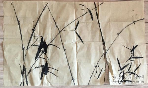 国画 毛边纸 / 水墨画 尺寸:72x42.5厘米 品相以图为准 右下有撕裂