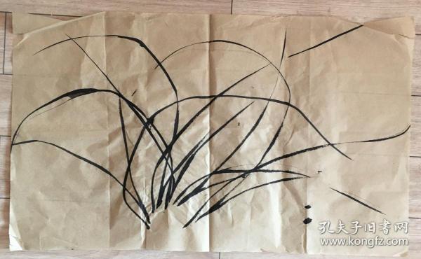 国画 毛边纸  //  水墨画 尺寸:71x42厘米 品相以图为准