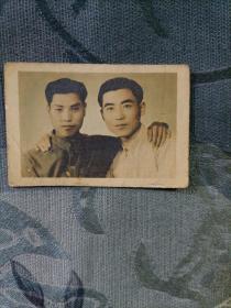 民国老照片 好兄弟 民国三十四年