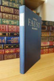 歌德的浮士德 Faust : A Tragedy  Heritage Press版  精装大本 Eugene Delacroix 插画