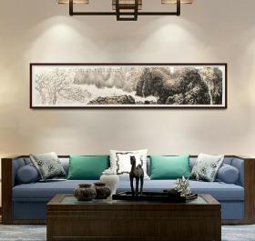 中美协会员,97百杰画家唐凤岐巨幅山水精品