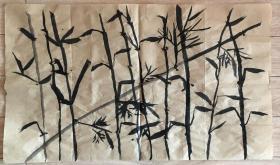 国画 毛边纸 / 水墨画 尺寸:71.5x42厘米 品相以图为准
