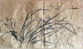 国画 毛边纸 水墨画 尺寸:71x41厘米 品相以图为准