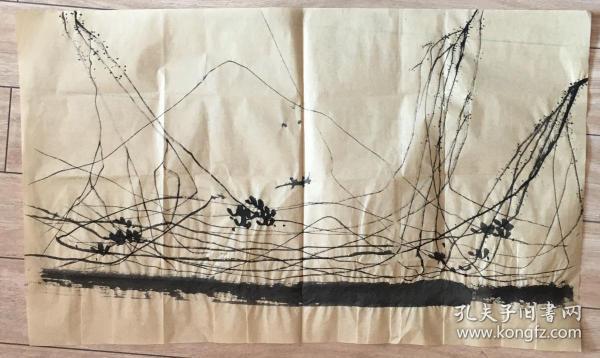 国画 毛边纸 / 水墨画 尺寸:72x43厘米 品相以图为准