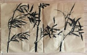 国画 毛边纸  // 水墨画 尺寸:71x43厘米 品相以图为准