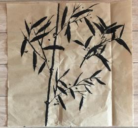 国画 毛边纸  // 水墨画 尺寸:43x42厘米 品相以图为准