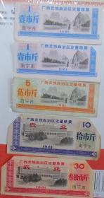 1981年广西壮族自治区定量粮票(南宁市5全)