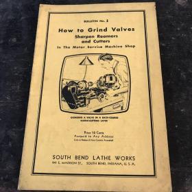 1935年英文原版:How to Grind Valves